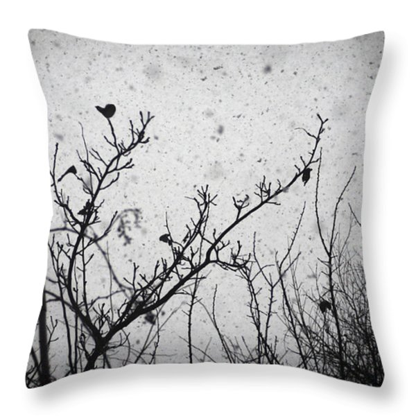 Confusing in the snow Throw Pillow by Taylan Soyturk