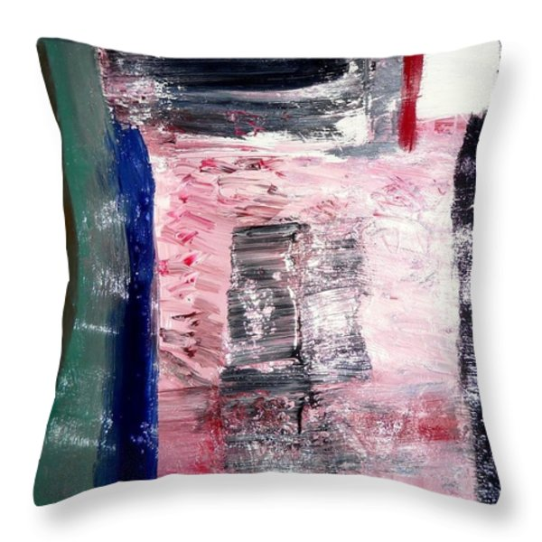 Confusion Throw Pillow by Fatiha Boudar