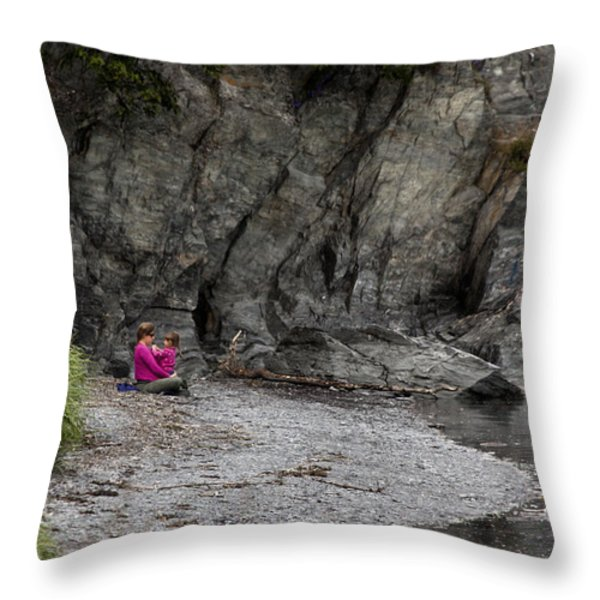 Connecting Throw Pillow by David Kehrli
