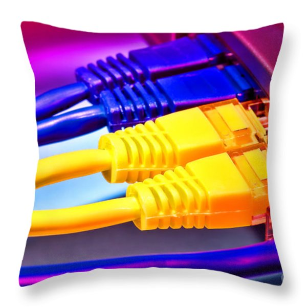 Connection Throw Pillow by Olivier Le Queinec