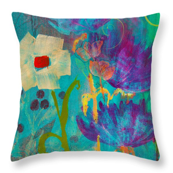 Conscious Living Throw Pillow by Robin Maria  Pedrero