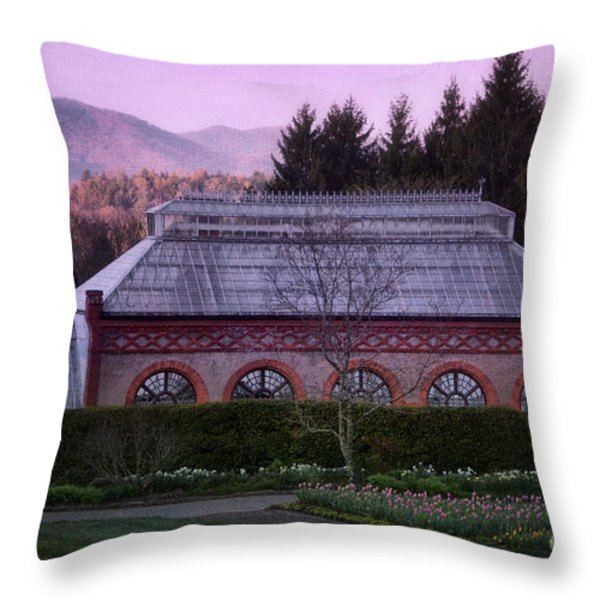 Conservatory At Biltmore Estate Throw Pillow by Doug Sturgess