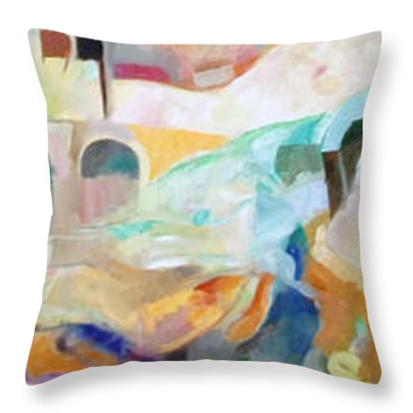 Consoling Yaakov Avinu Throw Pillow by David Baruch Wolk
