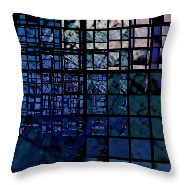 Constructions Throw Pillow by Klara Acel