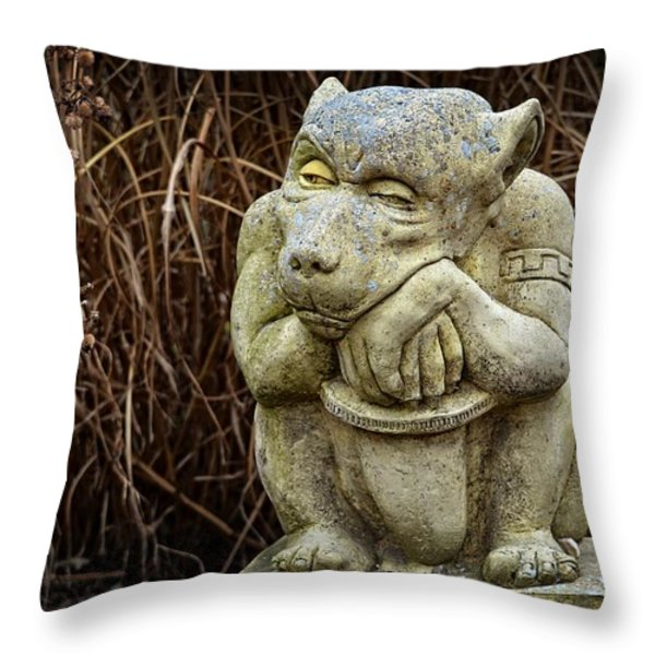 Contemplating Autumn Throw Pillow by Mary Machare