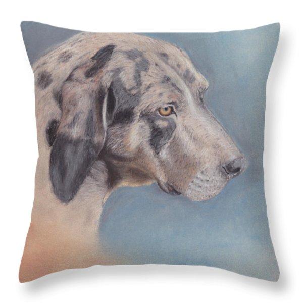 Contemplation Throw Pillow by Theresa Stinnett