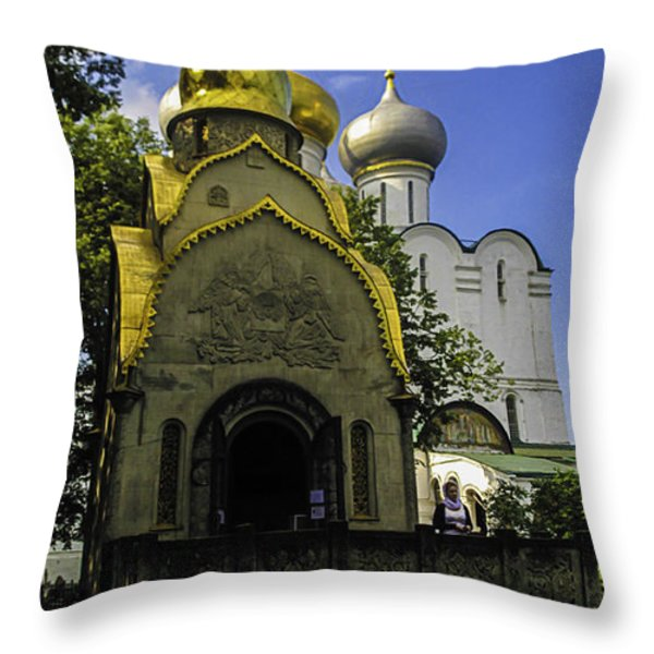 Convent - Moscow - Russia Throw Pillow by Madeline Ellis