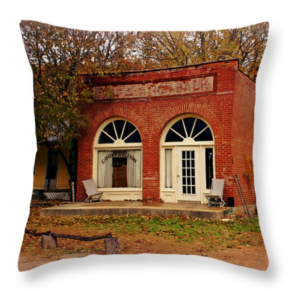 Cook Station Bank Throw Pillow by Marty Koch