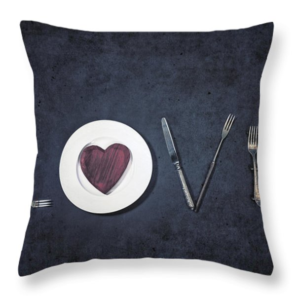 Cooking With Love Throw Pillow by Joana Kruse