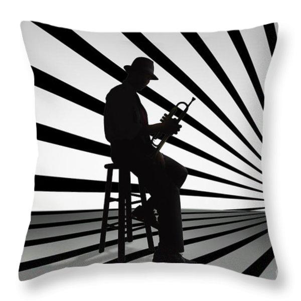 Cool Jazz 2 Throw Pillow by Bedros Awak