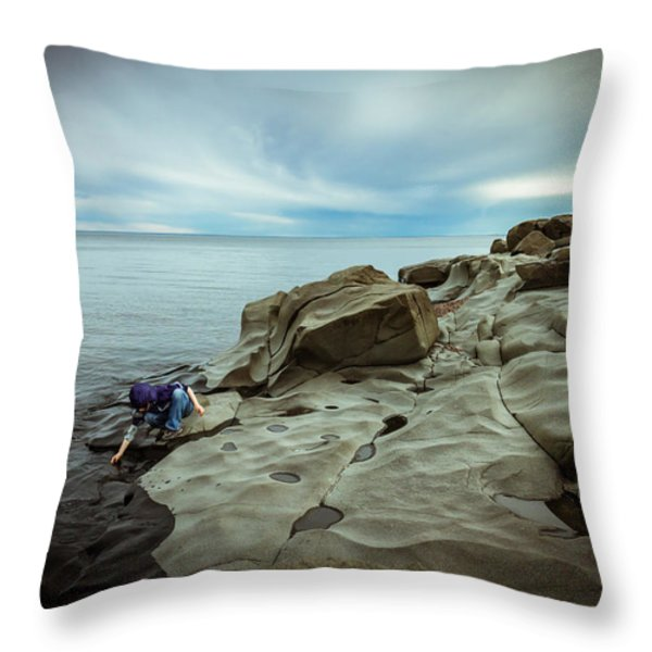 Cool To The Touch Throw Pillow by Mary Amerman