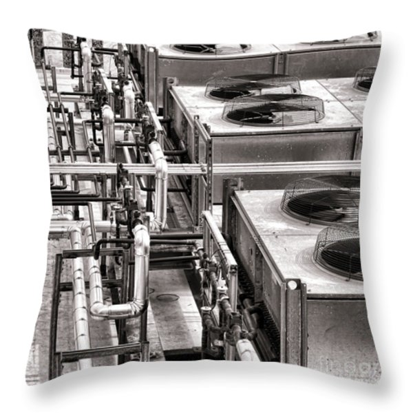Cooling Force Throw Pillow by Olivier Le Queinec