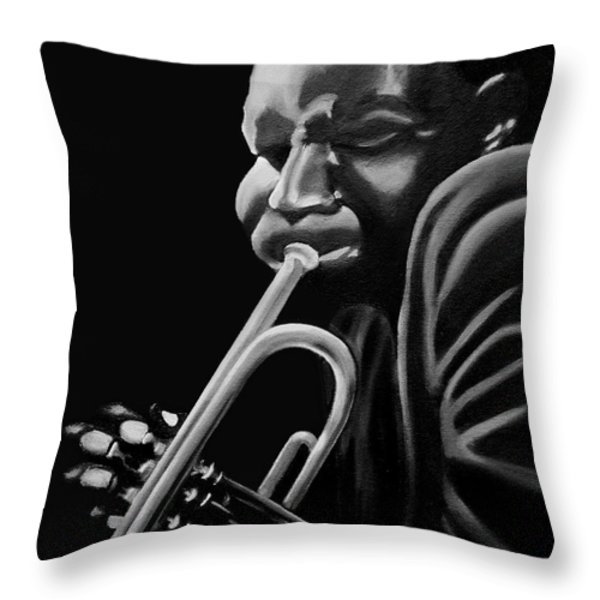 Cootie Williams Throw Pillow by Barbara McMahon