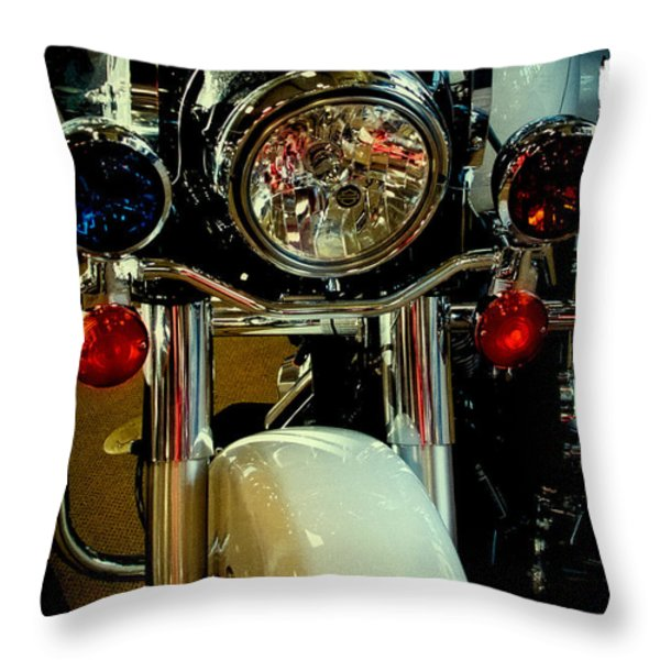 Copper Chopper Throw Pillow by David Patterson