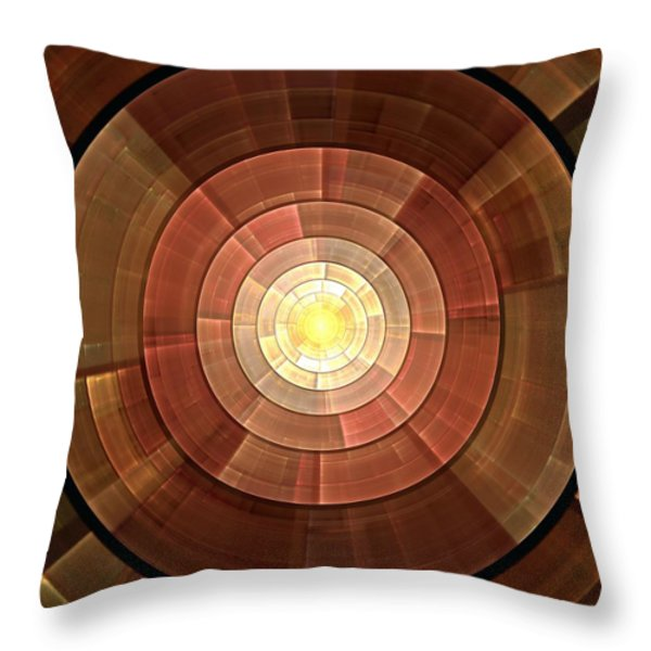 Copper Shield Throw Pillow by Anastasiya Malakhova