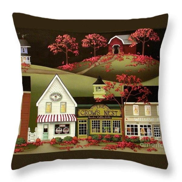 Copper Springs Throw Pillow by Catherine Holman