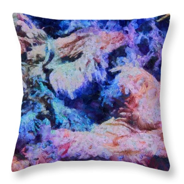 Coral Heaven Throw Pillow by Dan Sproul
