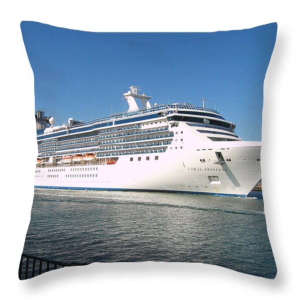 Coral Princess Throw Pillow by Shoal Hollingsworth
