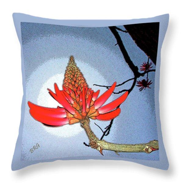 Coral Tree Throw Pillow by Ben and Raisa Gertsberg