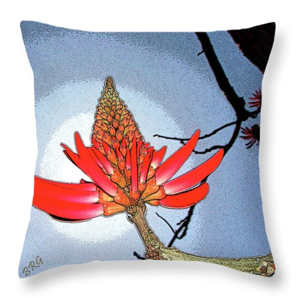 Coral Tree Throw Pillow by Ben and Raisa Gertsberg
