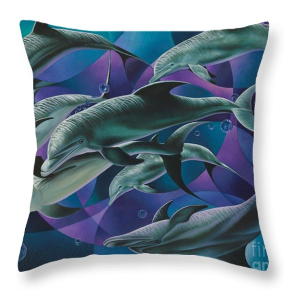 Corazon Del Mar  Throw Pillow by Ricardo Chavez-Mendez