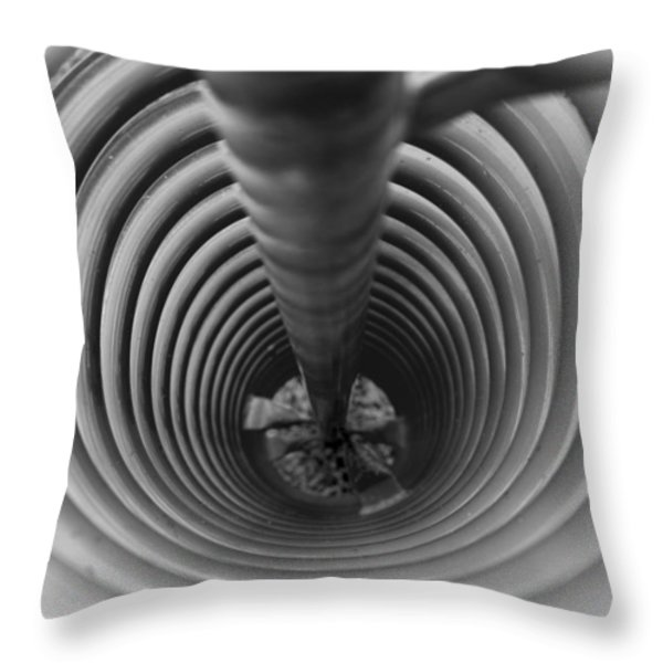 Corkscrew Throw Pillow by Fran Riley