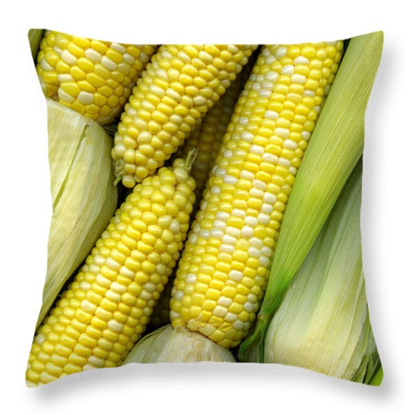 Corn on the Cob II Throw Pillow by Tom Mc Nemar