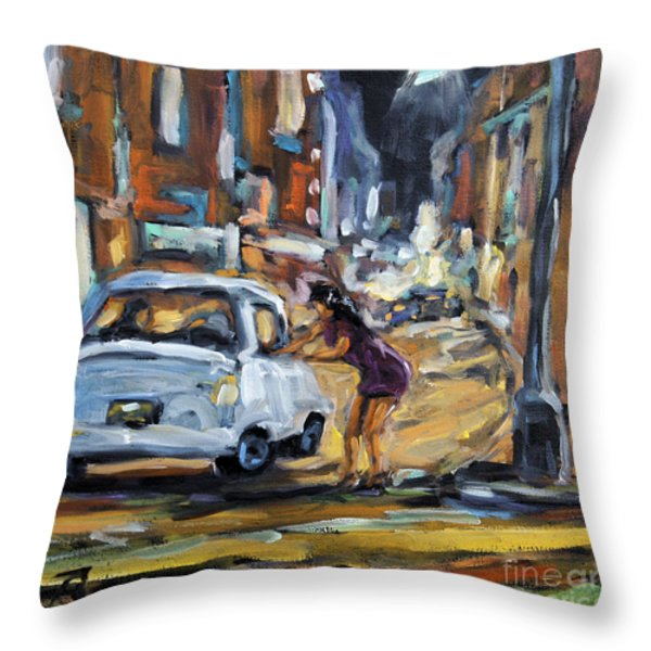 Corner Deal by Prankearts Throw Pillow by Richard T Pranke