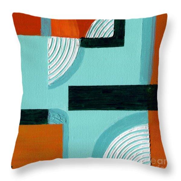 Corners Throw Pillow by Susan Sadoury