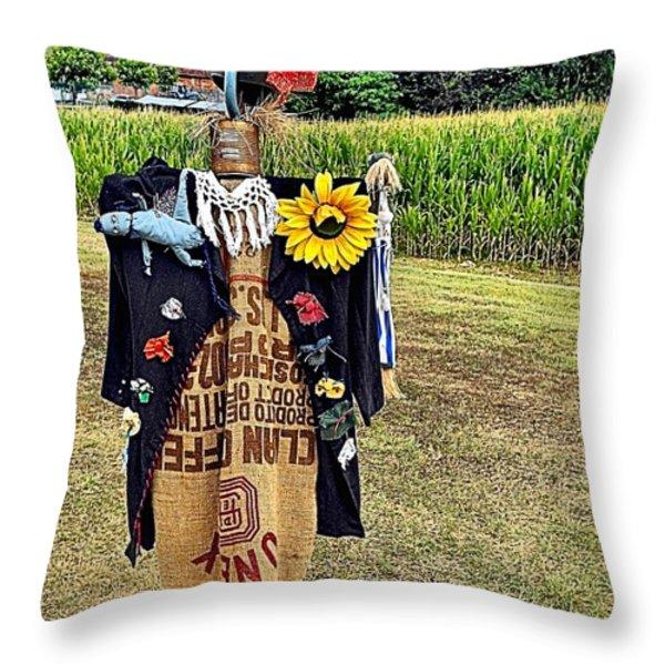 Cornfield Fete Throw Pillow by Lauren Leigh Hunter Fine Art Photography