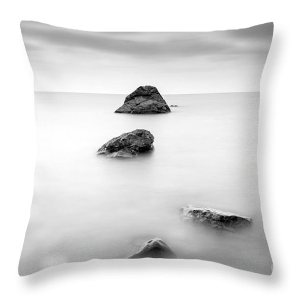 Cornish Seascape  Throw Pillow by John Farnan