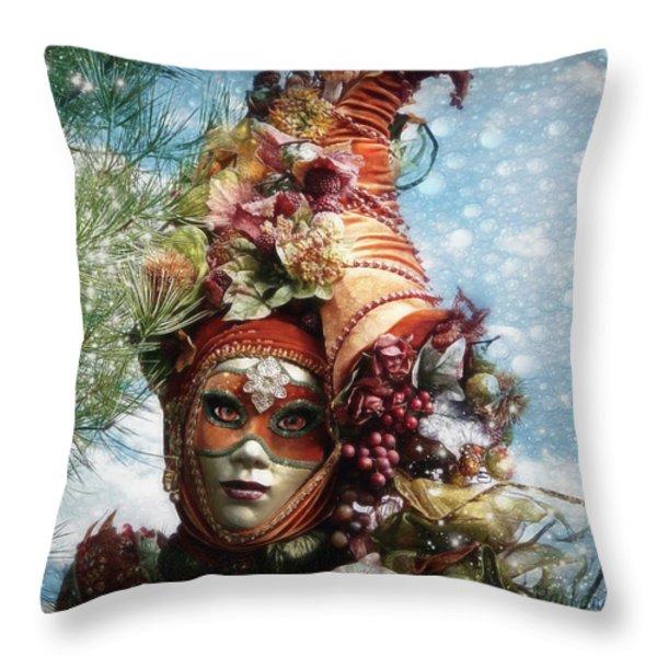 Cornucopia Throw Pillow by Barbara Orenya