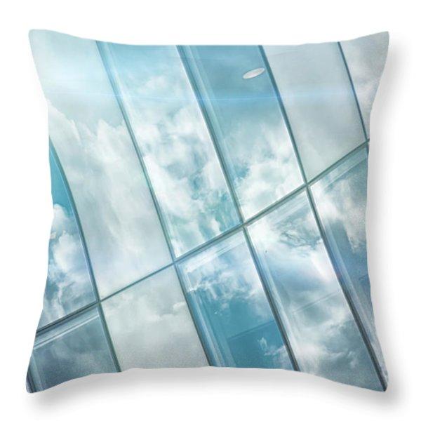 Corporate Flare Reflection Throw Pillow by Antony McAulay