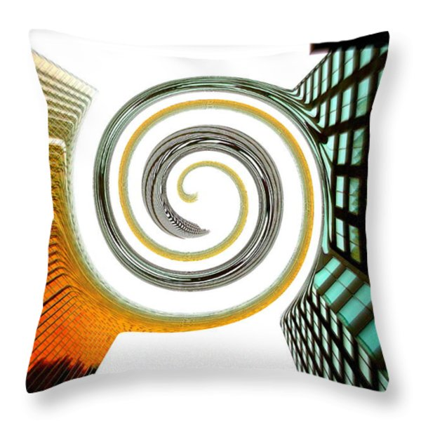Corporate Merging Throw Pillow by Valentino Visentini