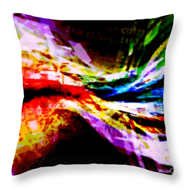 Cosmic Bowtie Throw Pillow by M and L Creations