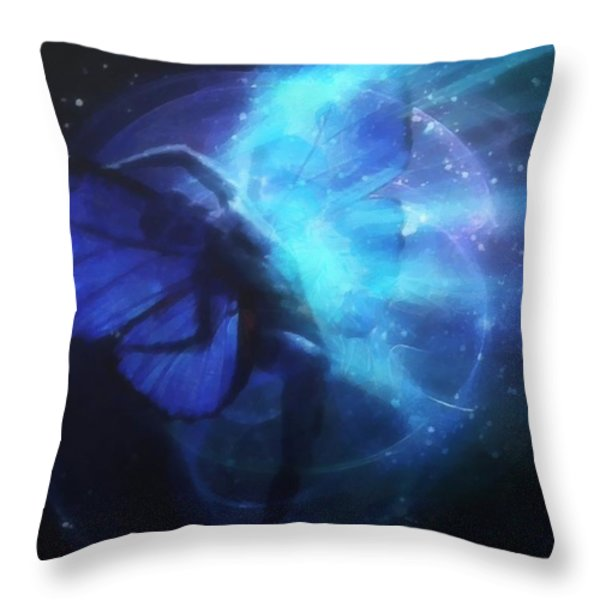 Cosmic Dance Of Joy Throw Pillow by Gun Legler