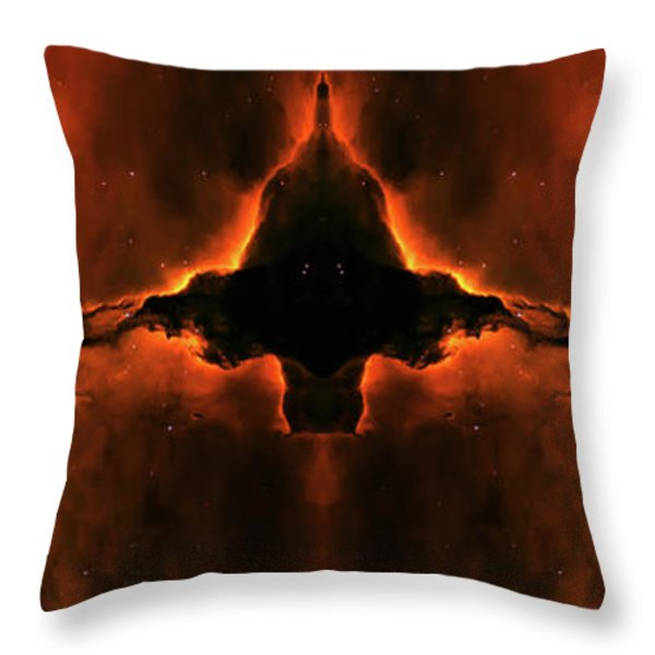 Cosmic Fire Fish Throw Pillow by The  Vault - Jennifer Rondinelli Reilly