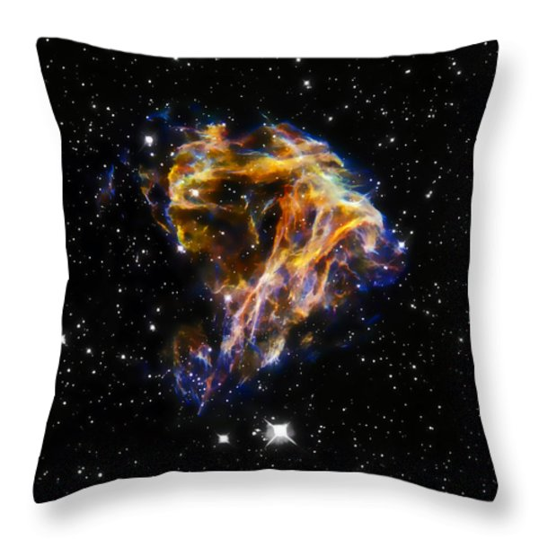 Cosmic Heart Throw Pillow by The  Vault - Jennifer Rondinelli Reilly