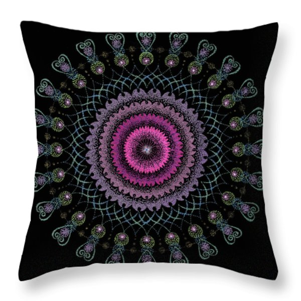 Cosmic Hug Throw Pillow by Keiko Katsuta