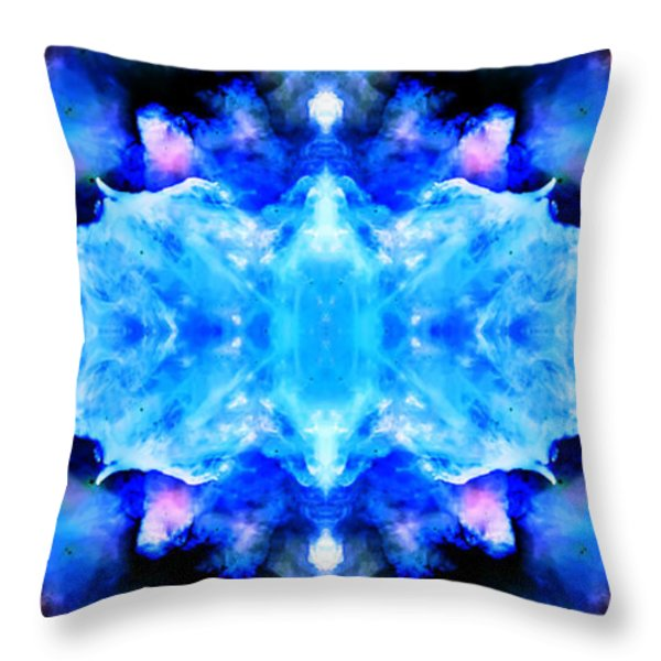 Cosmic Kaleidoscope 1 Throw Pillow by The  Vault - Jennifer Rondinelli Reilly