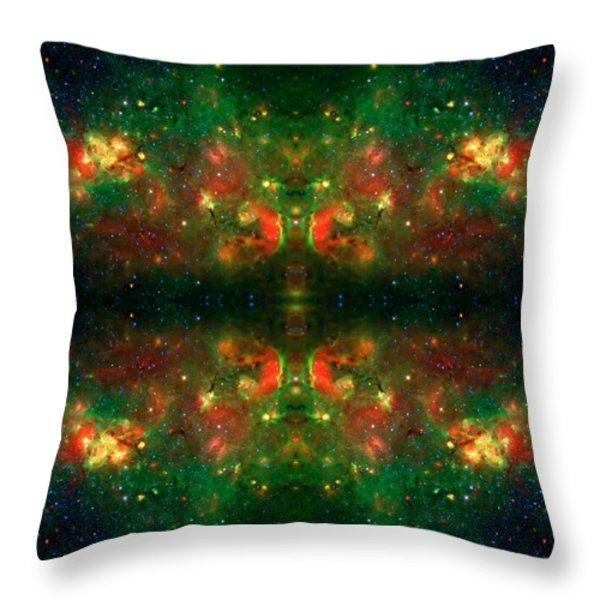 Cosmic Kaleidoscope 3 Throw Pillow by The  Vault - Jennifer Rondinelli Reilly