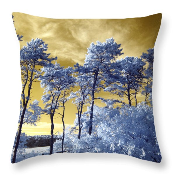 Cosmic Throw Pillow by Luke Moore