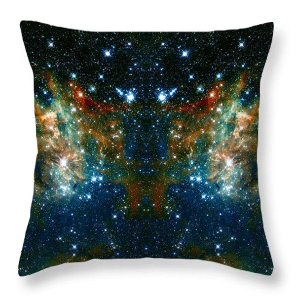 Cosmic Phoenix Throw Pillow by The  Vault - Jennifer Rondinelli Reilly