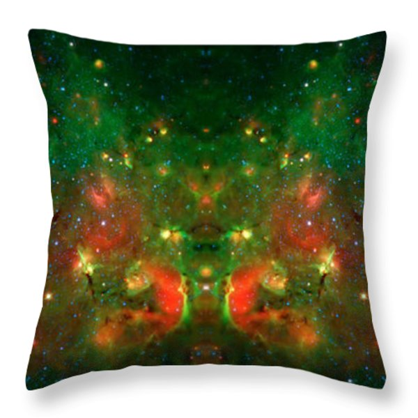 Cosmic Reflection 1 Throw Pillow by The  Vault - Jennifer Rondinelli Reilly
