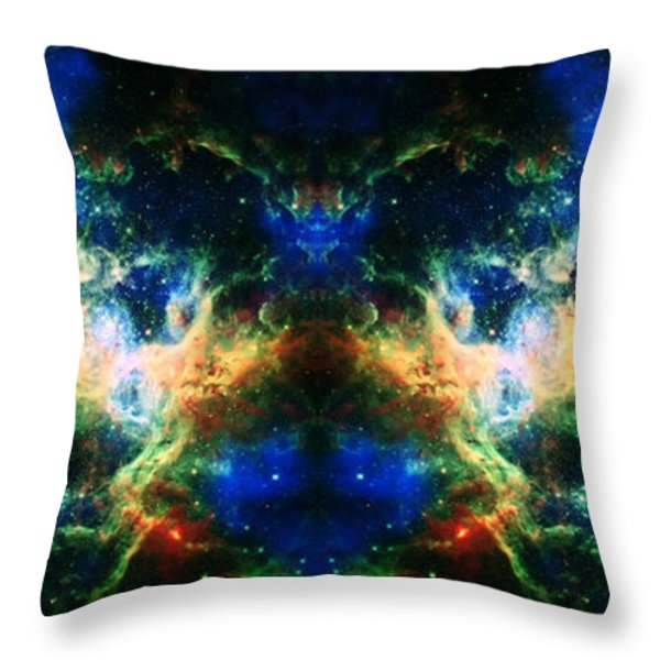 Cosmic Reflection 2 Throw Pillow by The  Vault - Jennifer Rondinelli Reilly