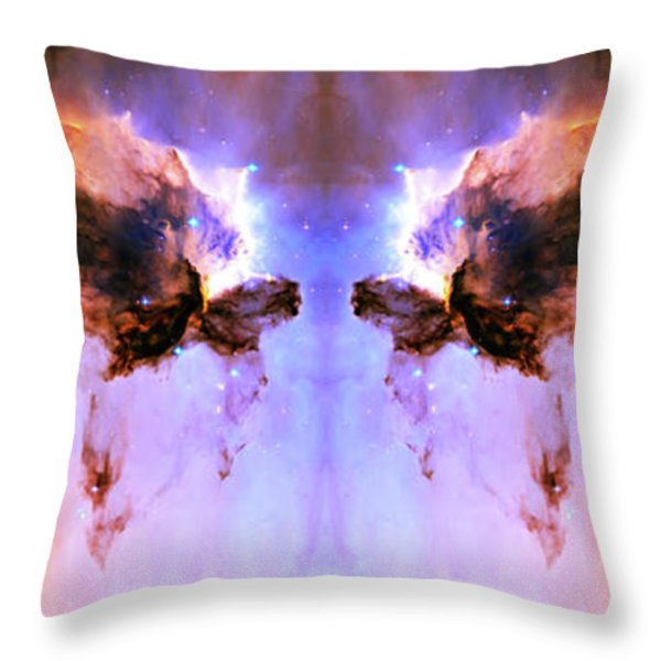 Cosmic Release Throw Pillow by The  Vault - Jennifer Rondinelli Reilly