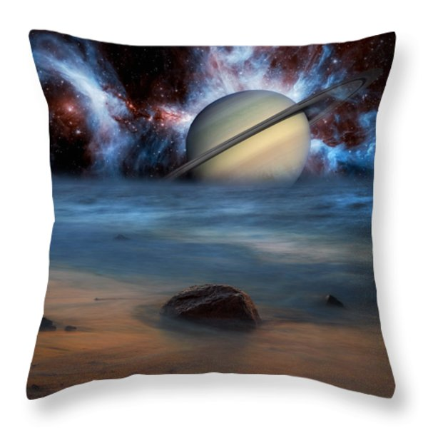 Cosmic Skies Throw Pillow by Bill  Wakeley