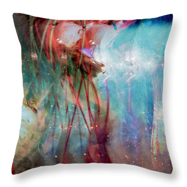 Cosmic String Throw Pillow by Linda Sannuti
