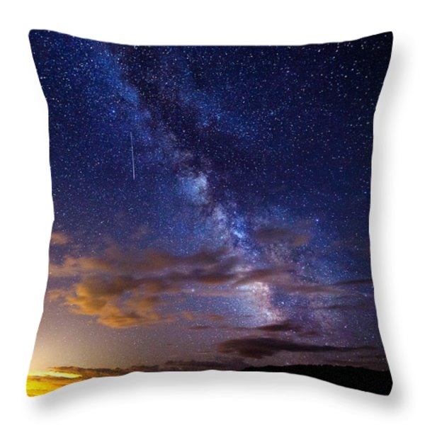 Cosmic Traveler  Throw Pillow by Darren  White