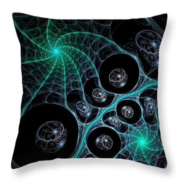 Cosmic Web Throw Pillow by Anastasiya Malakhova